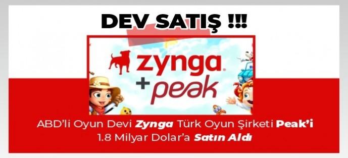 Türk Oyun Şirketi Peak Dünya Devi Zynga'ya Satıldı!