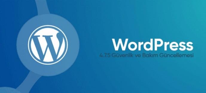 WordPress 4.7.5 Güvenlik Güncellemesi